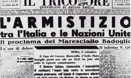8 settembre 1943. L'armistizio e l'inizio della Resistenza