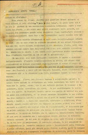 La prima pagina del quarto numero