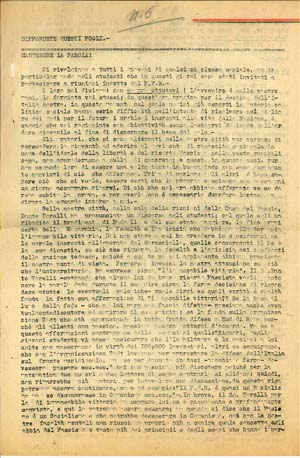 La prima pagina del sesto numero