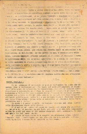 La prima pagina del settimo numero