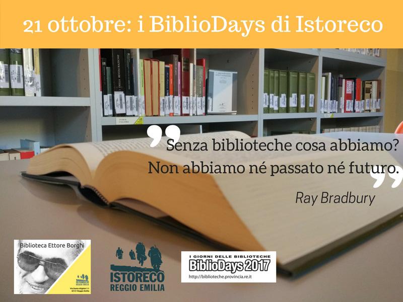 Bibliodays 2017 Istoreco per la cultura