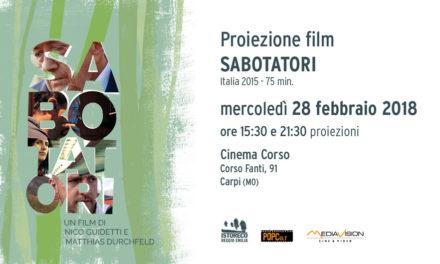 """Proiezione film """"Sabotatori"""""""