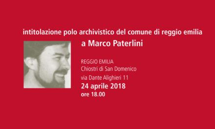 Intitolazione del Polo archivistico allo storico Marco Paterlini