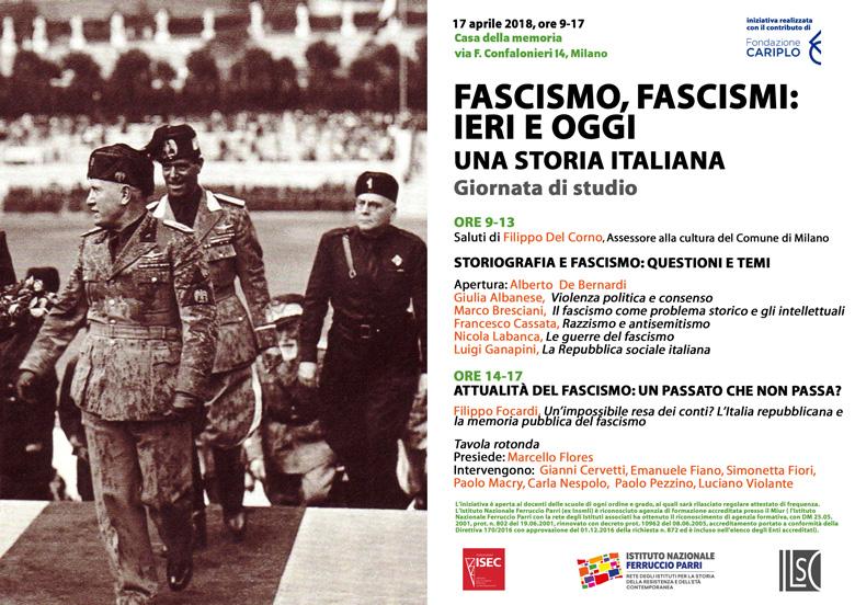 Fascismo, fascismi: ieri e oggi. Una storia italiana
