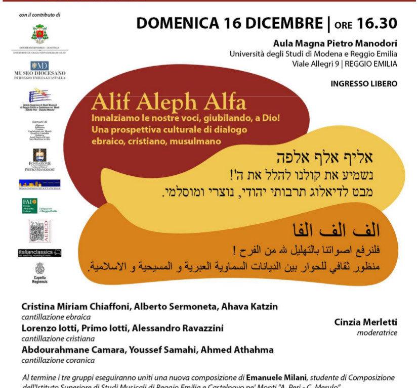 """Le religioni si incontrano in musica con """"Alif Aleph Alfa"""""""