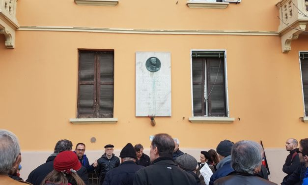 Omaggio alla vittima del fascismo Antonio Piccinini