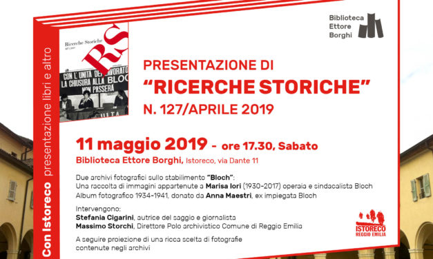 """Presentazione di """"RS-Ricerche Storiche"""", n. 127/aprile 2019"""