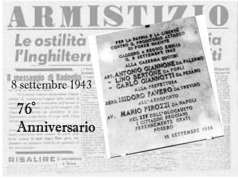 Commemorazione dei Caduti tra l'8 e il 9 settembre 1943