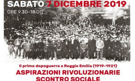 Il primo dopoguerra a Reggio Emilia (1919-1921). Aspirazioni rivoluzionarie, scontro sociale, origini del fascismo