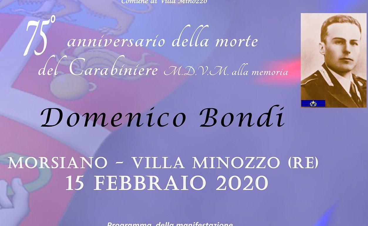 Carabiniere e partigiano, Villa Minozzo ricorda Domenico Bondi