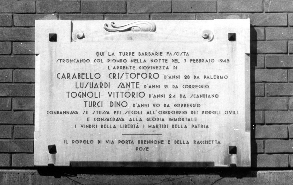 Eccidio di Porta Brennone e fucilazione del Partigiano Angelo Zanti