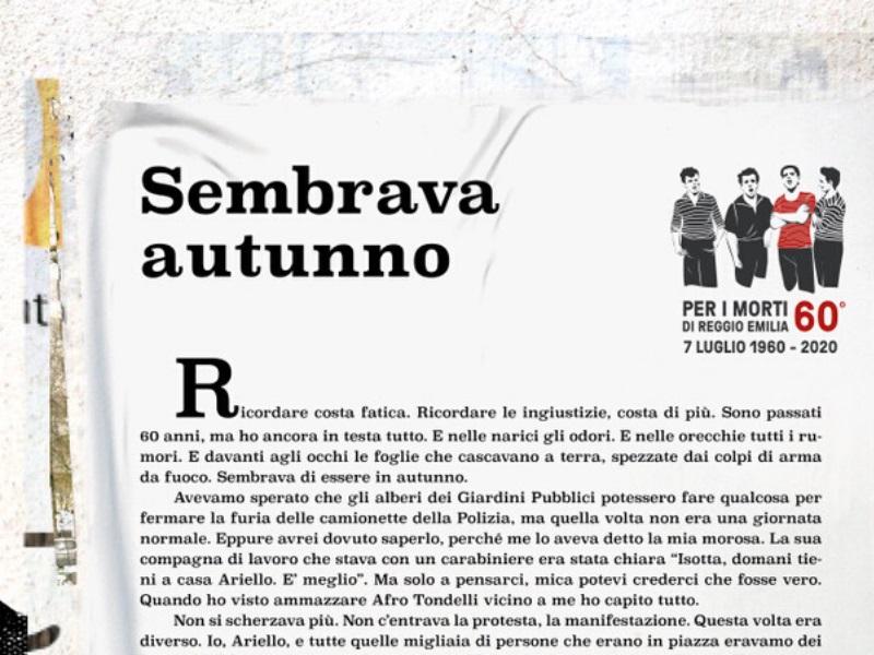 7 Luglio 1960-2020 – Perchè i vivi non ricordano gli occhi di… Ariello Bertozzi?