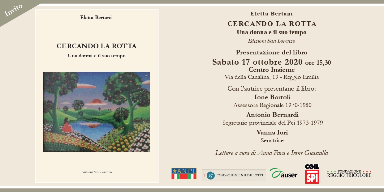 """Presentazione del libro """"Cercando la rotta"""" di Eletta Bertani"""