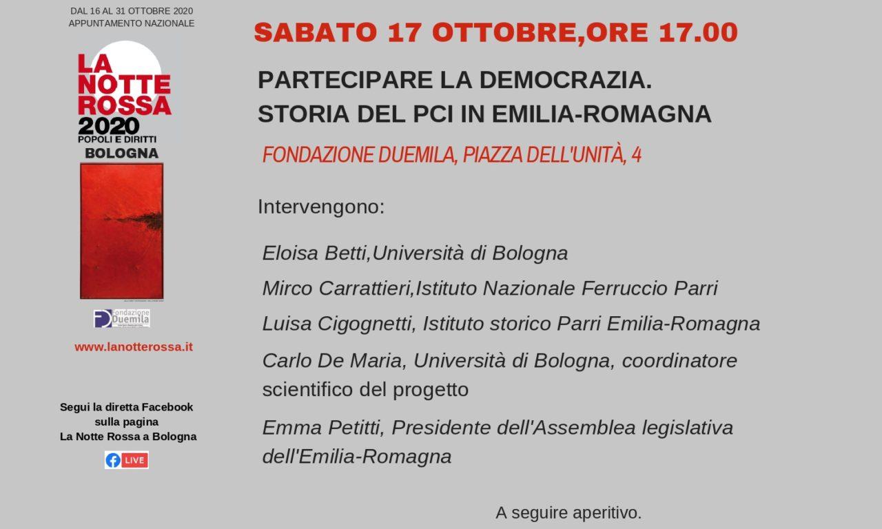 """Presentazione del progetto """"Partecipare la democrazia. Storia del Pci in Emilia-Romagna"""""""