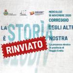RINVIATO – La Storia degli altri è Storia nostra. La presenza ebraica in provincia di Reggio Emilia