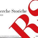 """Disponibile il nuovo numero """"RS-Ricerche Storiche"""" 130/2020"""