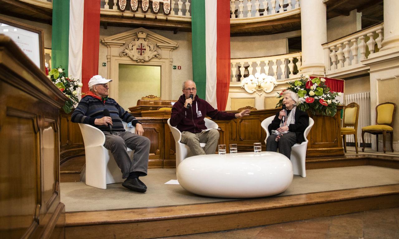 Testimonianza partigiana con Giacomina Castagnetti e Giglio Mazzi, il resoconto
