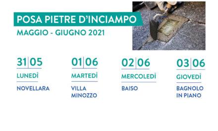 Posa di nuove Pietre d'Inciampo a Novellara, Baiso, Bagnolo e Villa Minozzo