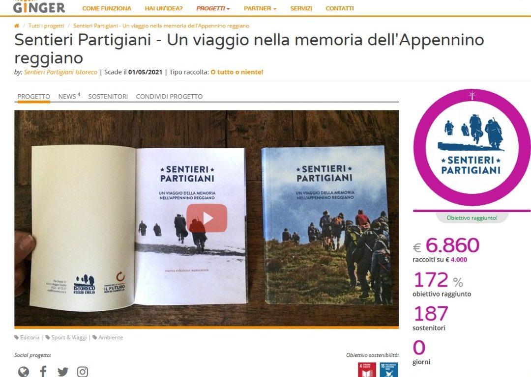 La campagna di raccolta fondi è un successo: i Sentieri Partigiani verranno ristampati!
